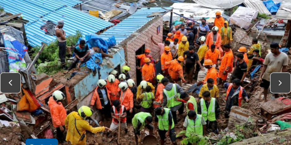 Deslizamiento de tierra en la India