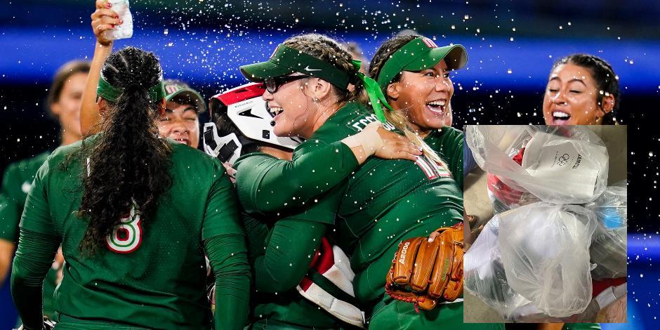 TOKIO 2020: ¡No se vale! Equipo de softbol tira a la basura uniformes de México que usaron en Juegos Olímpicos