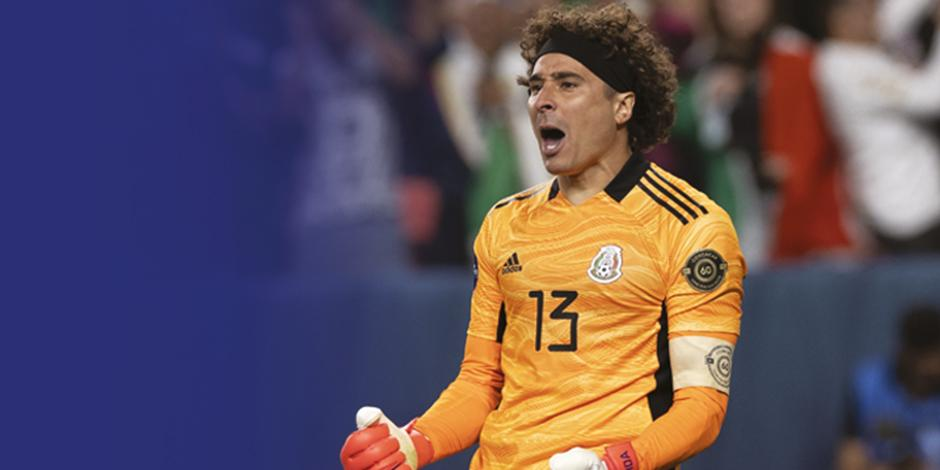 El portero, en un triunfo con el Tricolor mayor durante 2021.