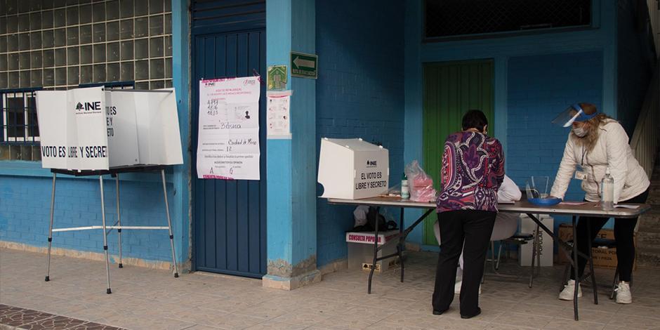 Módulo de alcaldía Cuauhtémoc con poca afluencia, situación que se repitió en el país.