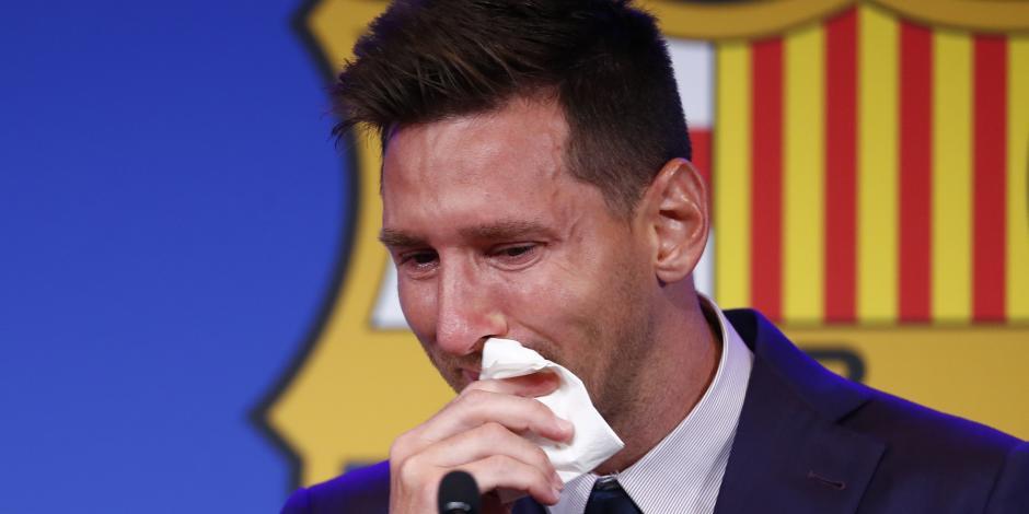 VIDEO: El desgarrador llanto de Lionel Messi al despedirse del Barcelona