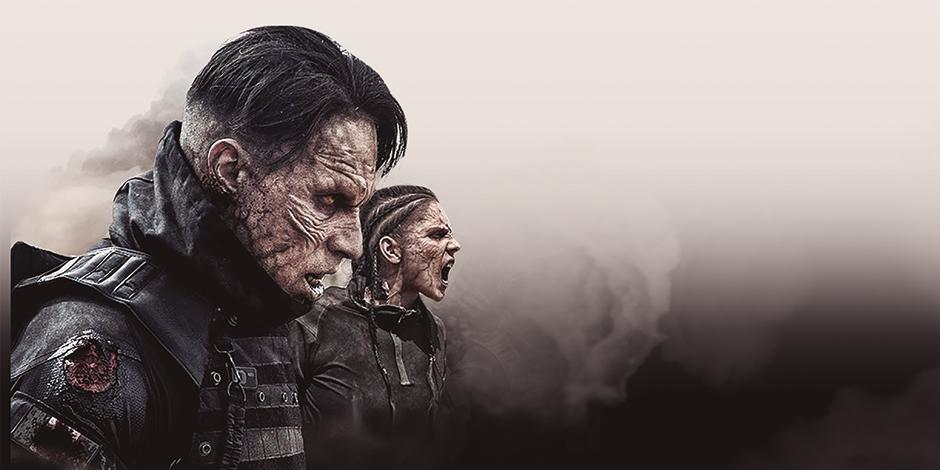 Actores, en la imagen de un cartel de la serie que se estrenó  el viernes pasado.