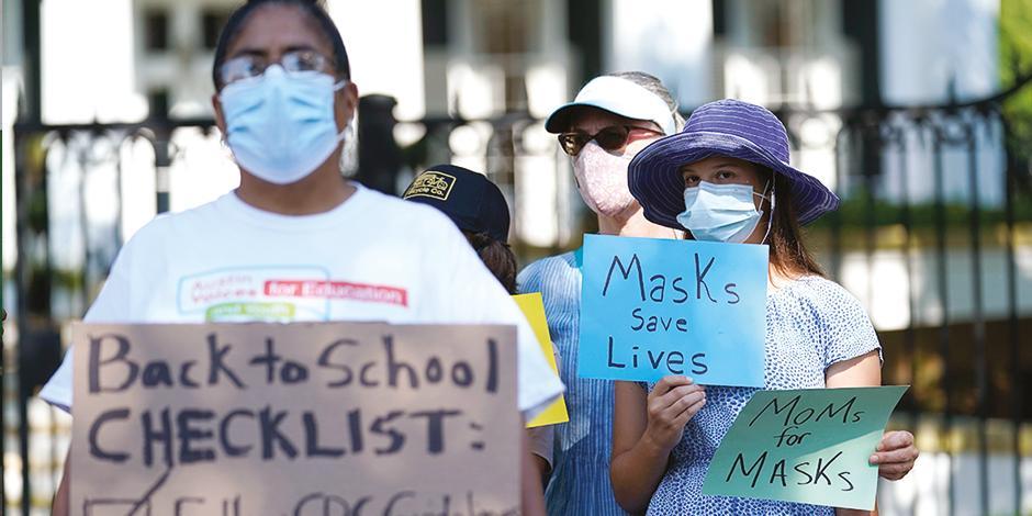 En escuelas que ya reanudaron clases exigen mantener las medidas sanitarias, para proteger a niños, pues aún no son inoculados.
