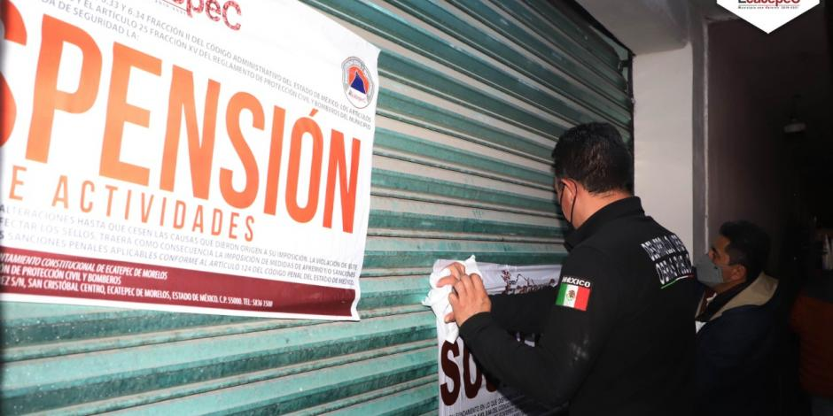 suspenden local en ecatepec