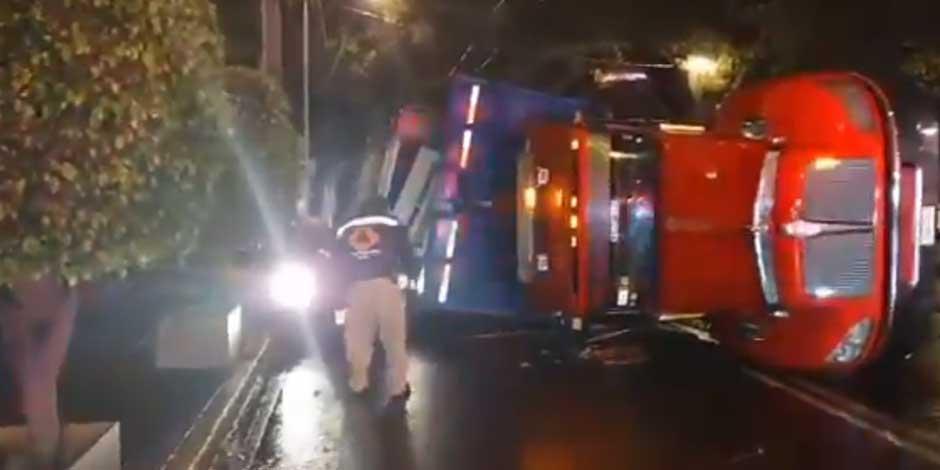 Accidente con trailer