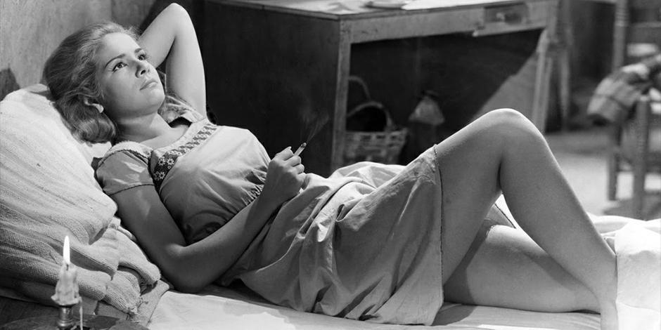 La actriz, al dar vida a Susana, en la cinta de Buñuel.