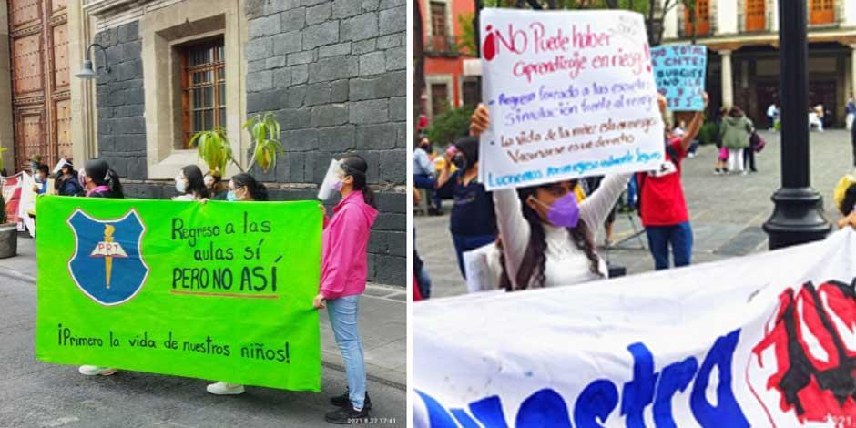 Protesta regreso a clases