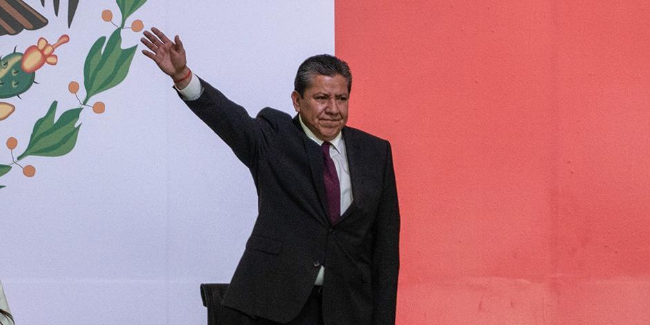 David Monreal Ávila, tras rendir protesta ayer como gobernador de Zacatecas.