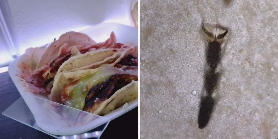 Parte de un insecto y pelo están entre las cosas que encontró en los tacos de la calle