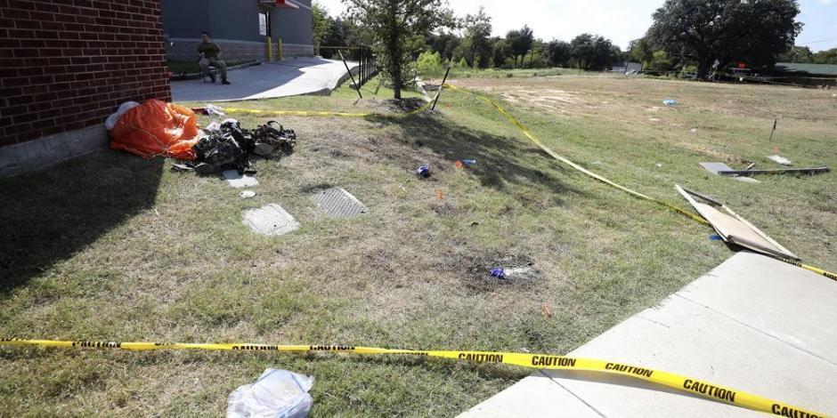Jet militar se estrella en Texas