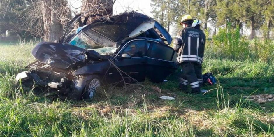 Un animal pasó por la carretera y no dio tiempo al conductor de estabilizar el vehículo