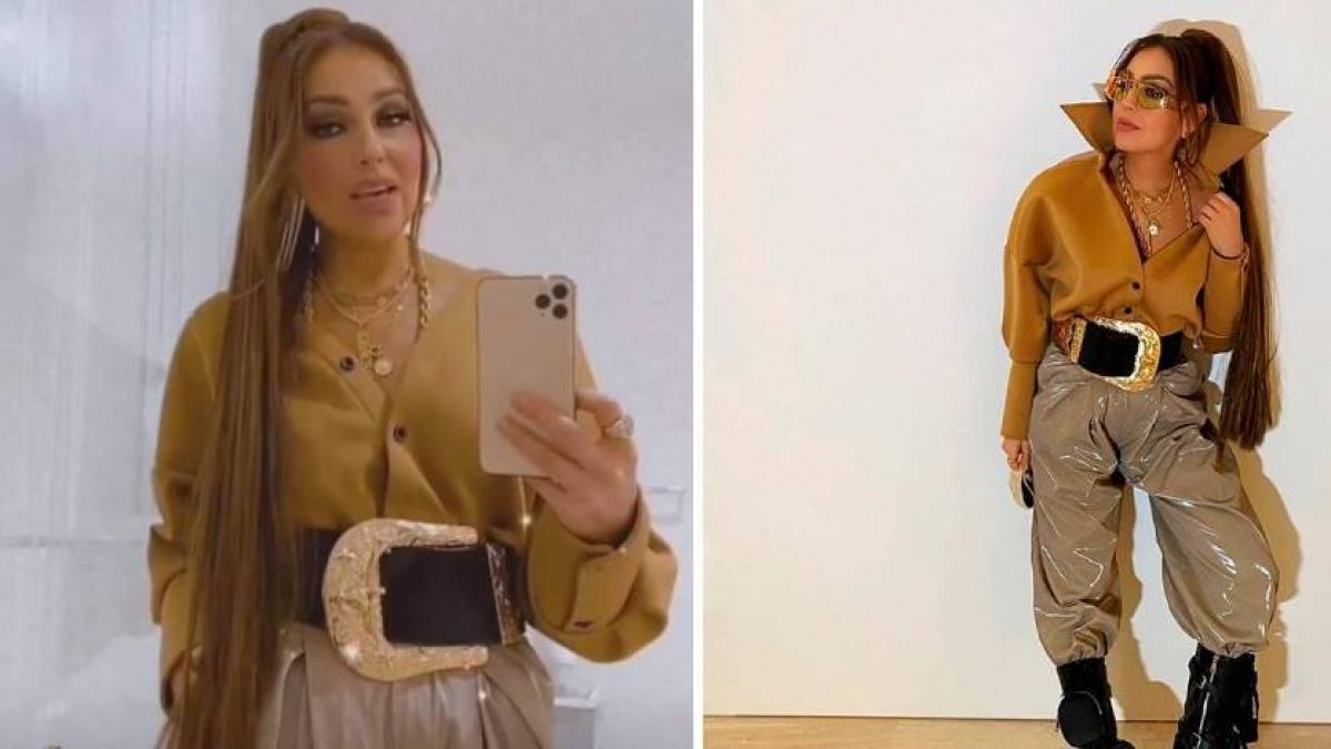 Reviven look de Thalía con cinturón gigante y se desatan los memes (FOTOS)