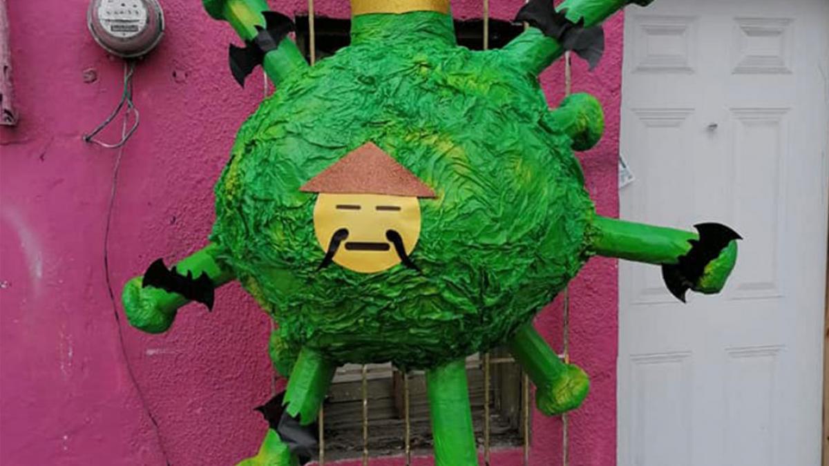 """Coronavirus """"infecta"""" las fiestas ahora en forma de piñata"""